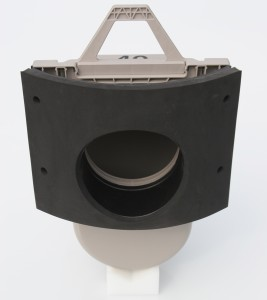Odour Trap in Round Adapter - Back