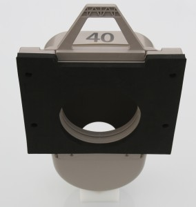 Odour Trap in Square Adapter - Back