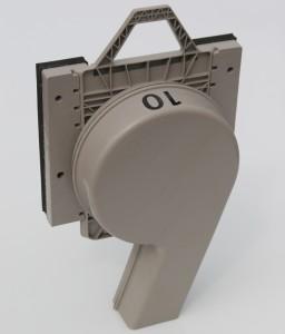Vortex in Square Adapter - Left